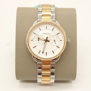 NWT FOSSIL Tailor Jeweled Stainless Steel Watch